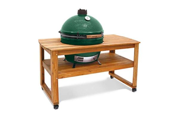 """X-Large Big Green Egg in Acacia Table Bundle - <strong>What's Included</strong> <span style=""""color: #4c595f;"""">Big Green Egg (un-assembled)</span><br style=""""color: #4c595f;"""" /><span style=""""color: #4c595f;"""">Acacia Table (un-assembled)</span><br style=""""color: #4c595f;"""" /><span style=""""color: #4c595f;"""">ConvEGGtor</span><br style=""""color: #4c595f;"""" /><span style=""""color: #4c595f;"""">Charcoal 4.5kg</span><br style=""""color: #4c595f;"""" /><span style=""""color: #4c595f;"""">Internal Firebox, Fire Ring & Fire Grate</span><br style=""""color: #4c595f;"""" /><span style=""""color: #4c595f;"""">Stainless Steel Cooking Grid</span><br style=""""color: #4c595f;"""" /><span style=""""color: #4c595f;"""">Regulator Cap</span><br style=""""color: #4c595f;"""" /><span style=""""color: #4c595f;"""">Tel-True Thermometer Dome Gauge</span>  <span style=""""color: #ff0000;""""><strong>Order now for delivery w/c 24th May</strong></span>"""