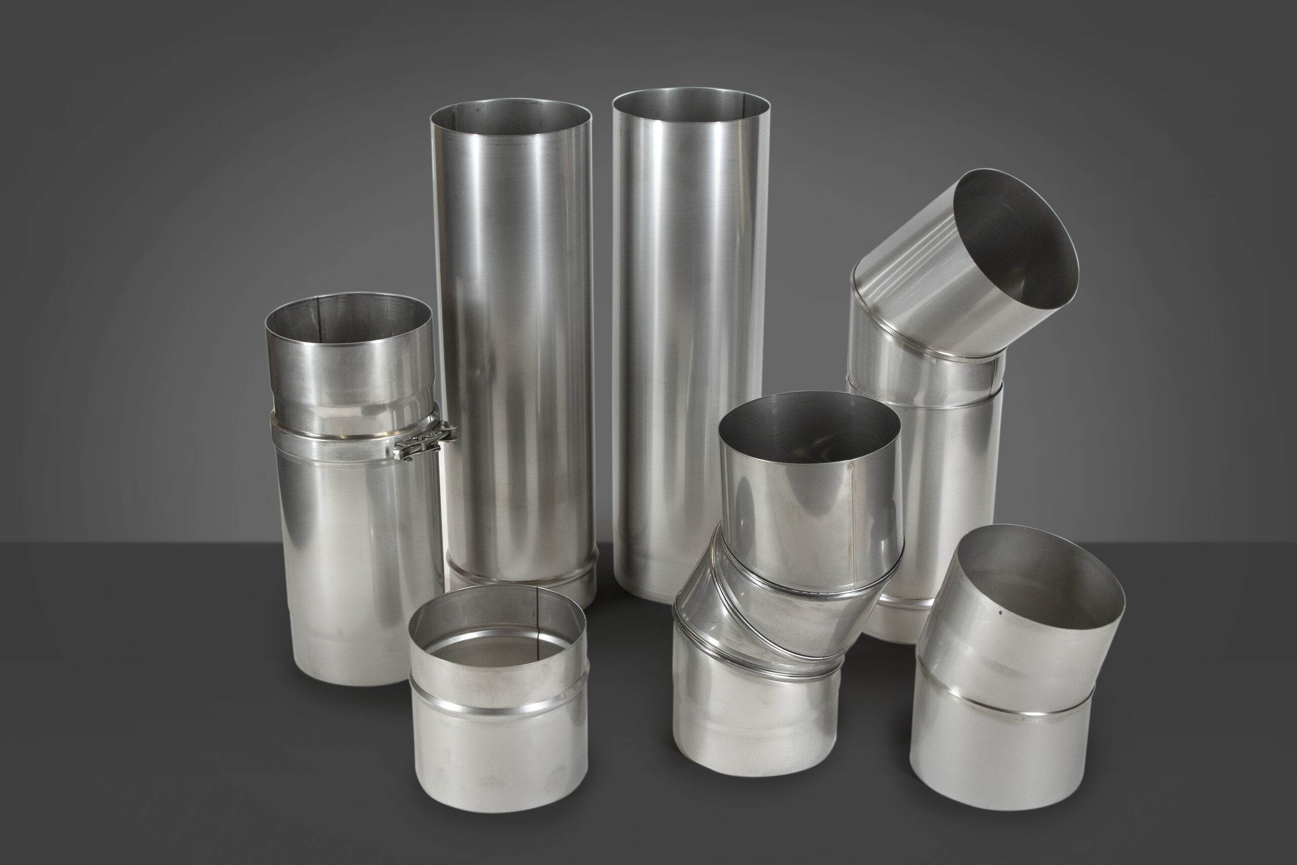Stainless steel single wall flue pipe