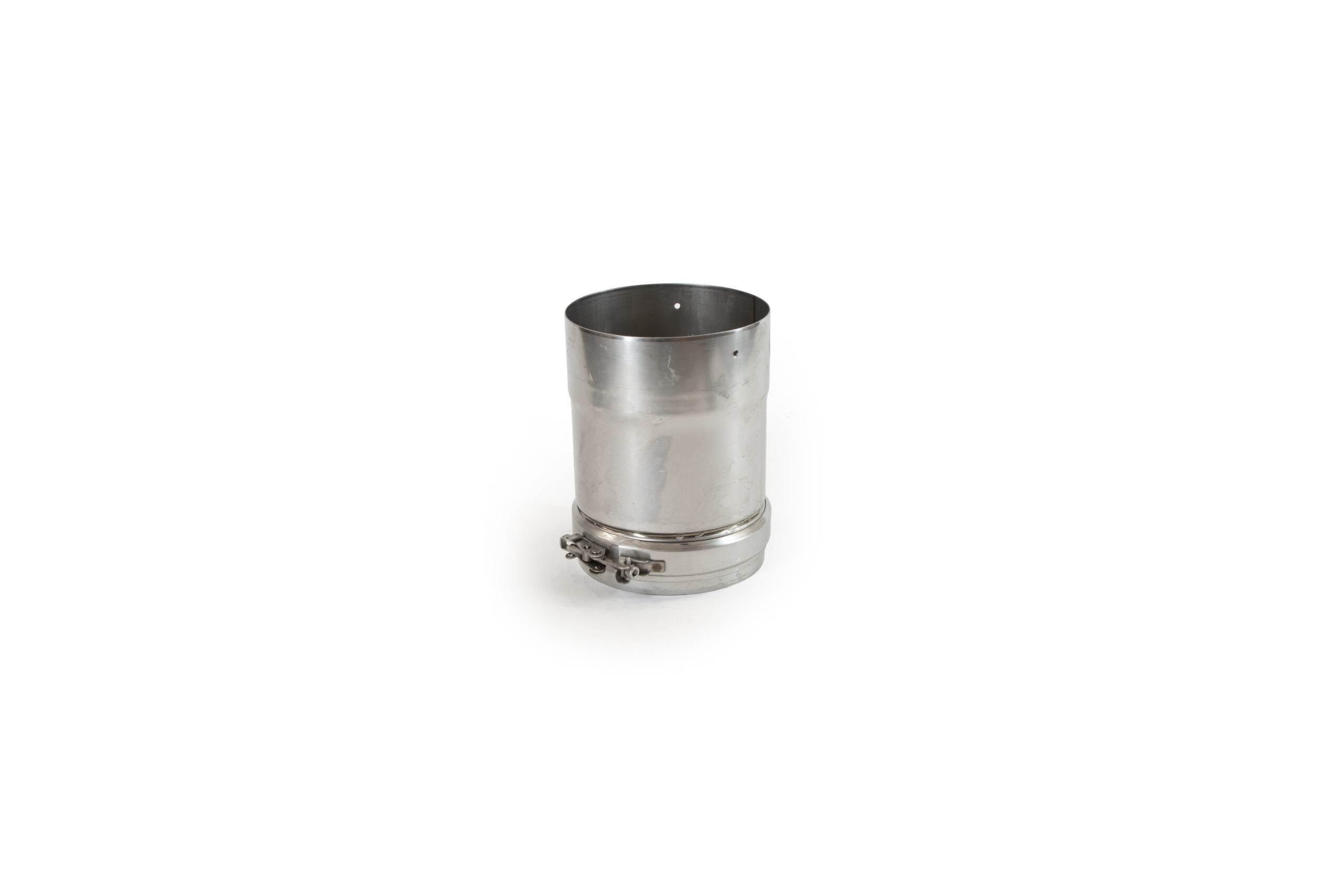 200mm Length Adjustable Stainless Steel Flue Pipe (70mm adjustment)