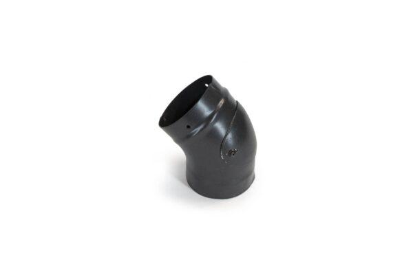 45° Swept Bend with Access Door - Vitreous Enamel Flue Pipe - Matt Black
