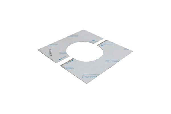 Square Ceiling/Wall Trim 90° - Twin Wall/Single Skin Flue -
