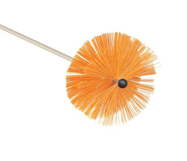 Chimney sweeping brush medium bristle