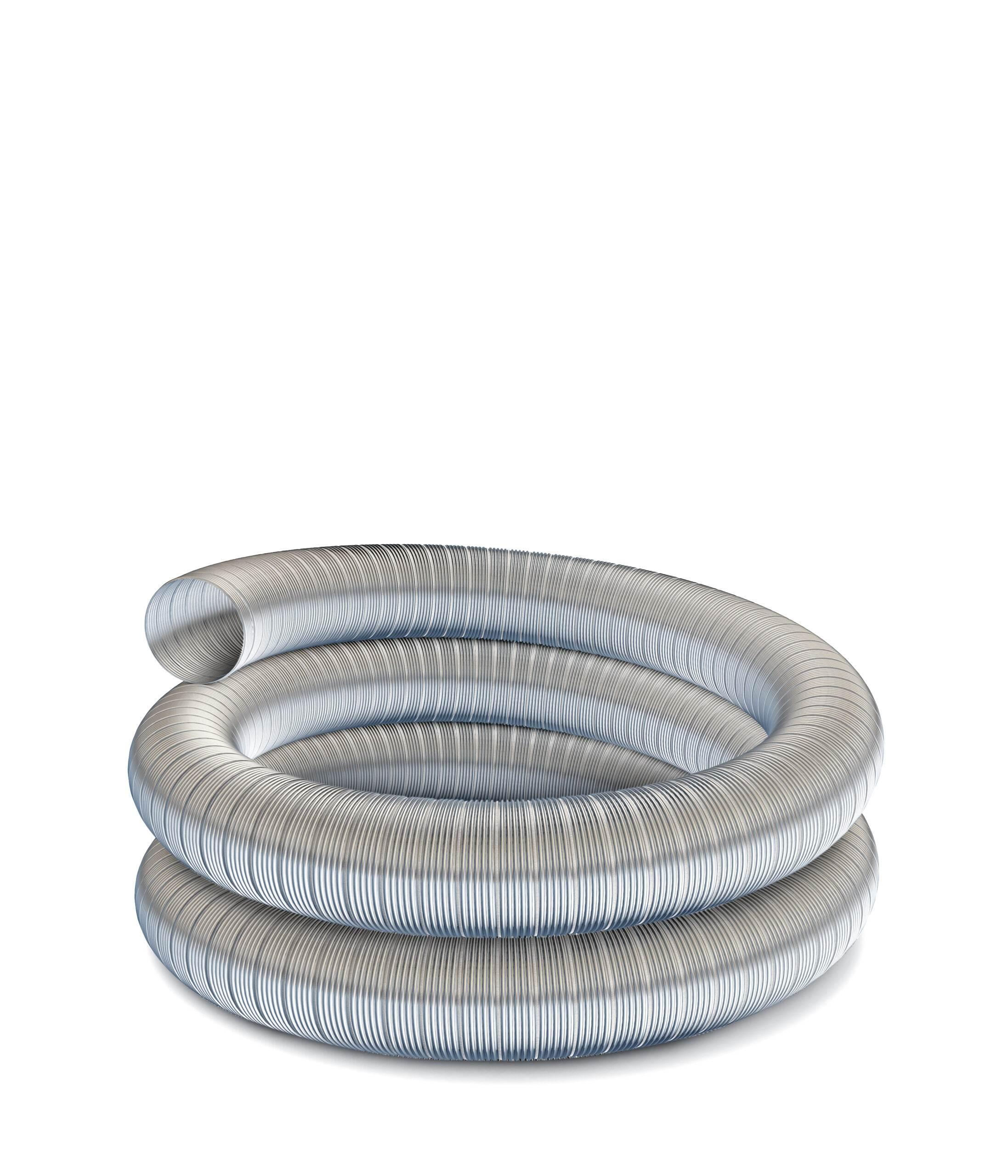 "Technoflex Flexible Flue Liner - 6m Length - 125mm (5"") Diameter - 316 grade"