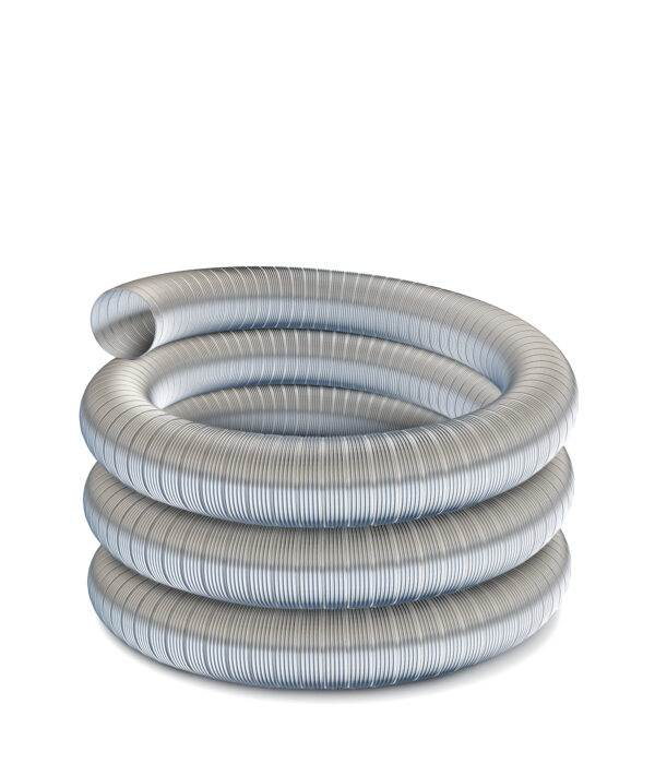 "Technoflex Flexible Flue Liner - 8m Length - 125mm (5"") Diameter - 316 grade"