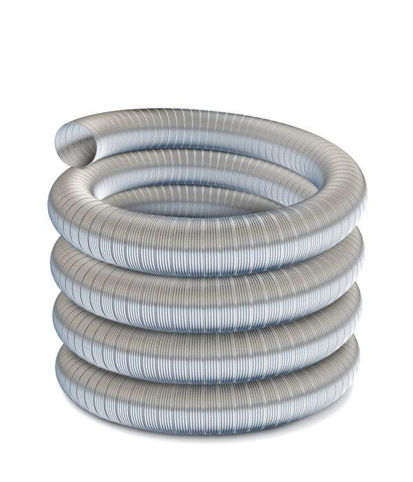 "Technoflex Flexible Flue Liner - 10m Length - 125mm (5"") Diameter - 316 grade"