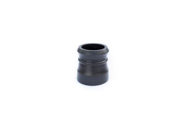 Chimney Pot - Traditional Cannon Head - 300mm high in Black - 260mm i/d at base, 210mm i/d at top