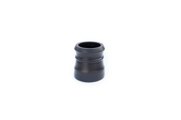 Redbank Traditional Cannon Head High Chimney Pot (300mm Black) - 260mm i/d at base, 210mm i/d at top