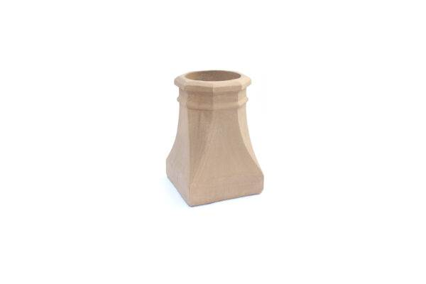 Chimney Pot - Octagon Square Base - 450mm high in Buff - 260mm i/d at base, 200mm i/d at top