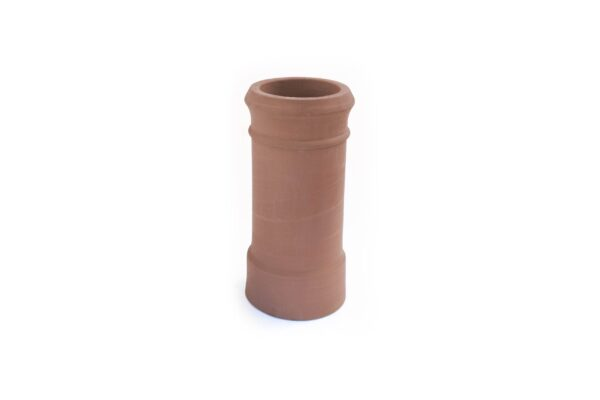 RED BANK TRAD CAN HEAD POT RED 600MM HIGH - 260mm i/d at base, 210mm i/d at top