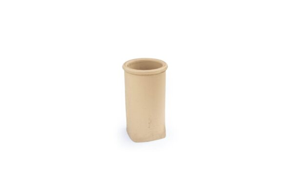 Chimney Pot - Roll Top Square Base - 450mm high in Buff -