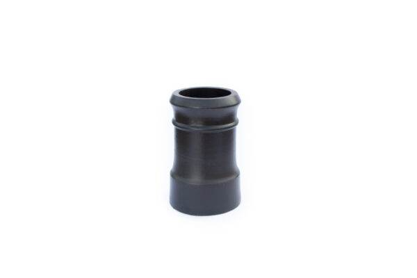 Chimney Pot - Traditional Cannon Head - 450mm high in Black - 260mm i/d at base, 210mm i/d at top