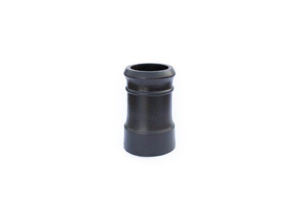 Redbank Traditional Cannon Head Chimney Pot (450mm Black) - 260mm i/d at base, 210mm i/d at top