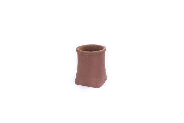 Chimney Pot - Roll Top Square Base - 300mm high in Terracotta -
