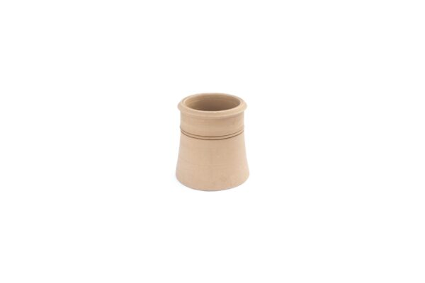 CONTEMPORARY CANNON HEAD POT, 300MM HIGH BUFF - 225mm i/d at base