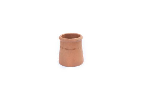 Chimney Pot - Contemporary Cannon Head - 300mm high in Terracotta - 225mm i/d at base