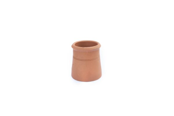Contemporary Cannon Head Chimney Pot (300mm Red / Terracotta) - 225mm i/d at base