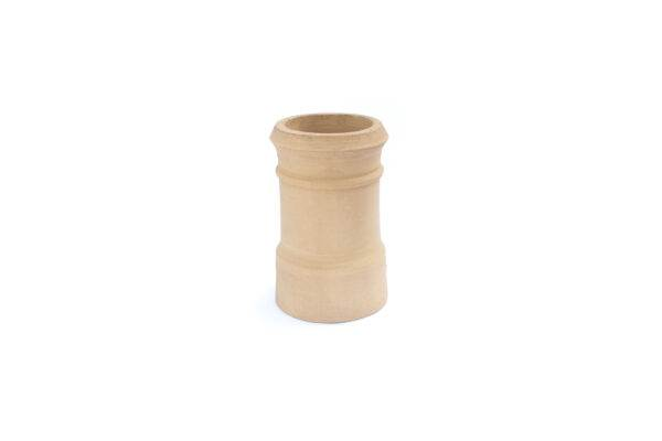 Chimney Pot - Traditional Cannon Head - 450mm high in Buff - 260mm i/d at base, 210mm i/d at top