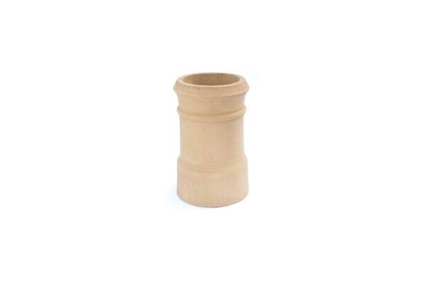 Redbank Traditional Cannon Head Chimney Pot (450mm Buff) - 260mm i/d at base, 210mm i/d at top