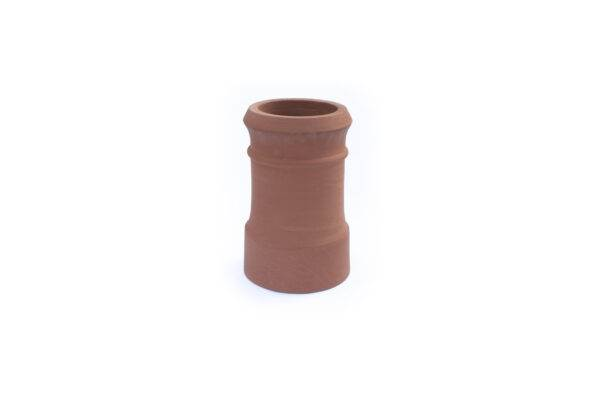 Chimney Pot - Traditional Cannon Head - 450mm high in Terracotta - 260mm i/d at base, 210mm i/d at top