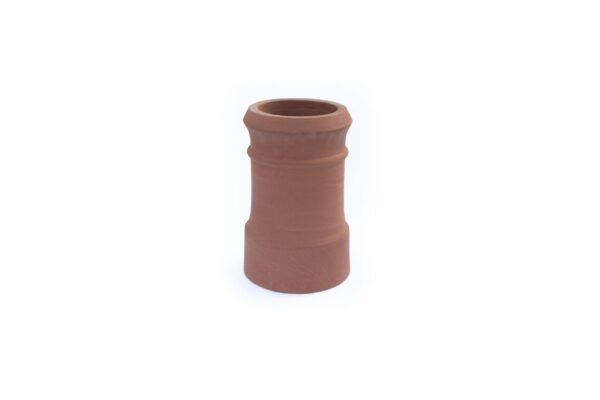 Redbank Traditional Cannon Head High Chimney Pot (450mm Red / Terracotta) - 260mm i/d at base, 210mm i/d at top