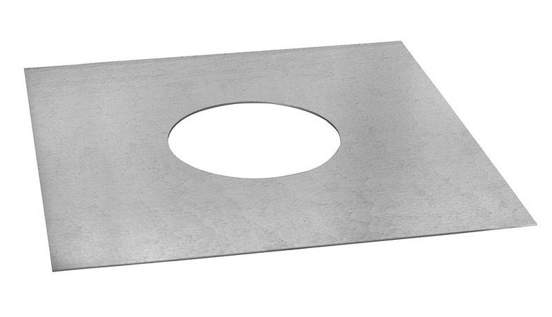 Unventilated Bungalow Sq Firestop Plate - Schiedel ICID Twin Wall