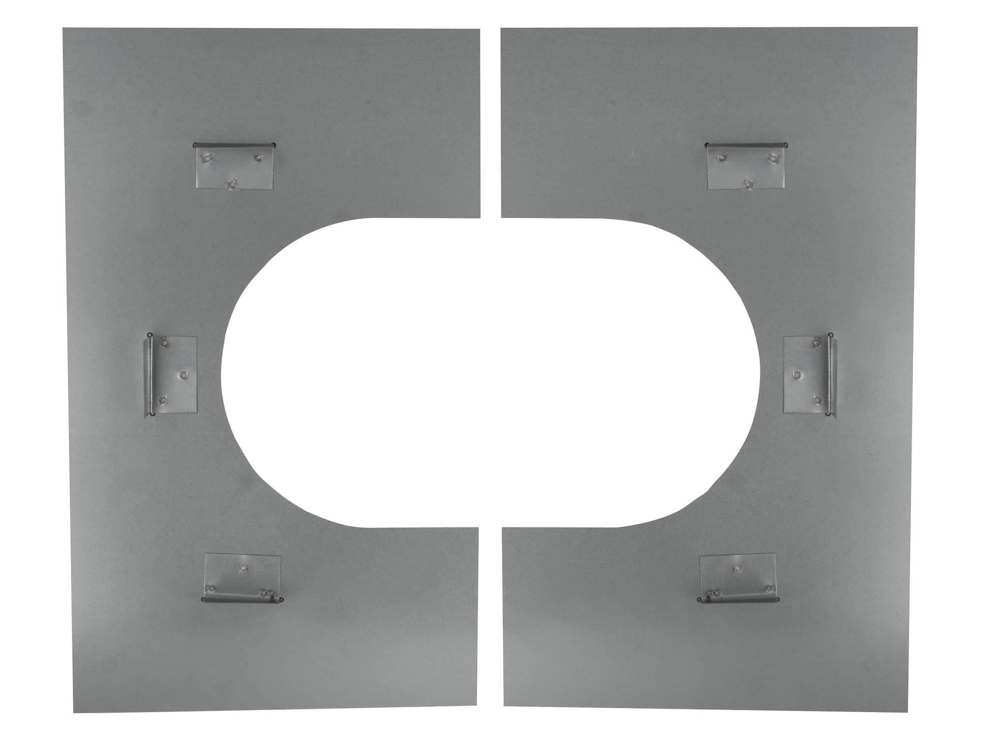 Non-Combustible Floor Firestop Plate - Schiedel ICID Twin Wall