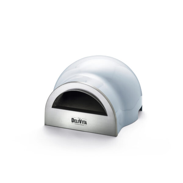 Delivita Wood Fired Pizza Oven - Vintage Blue - These beautifully designed versatile ovens offer superb performance and weighing only 30kg are portable to enjoy anywhere. Crafted by hand and featuring a traditional clay interior, these ovens take time to create to our exacting standards. ...(but perfection is worth waiting for!)