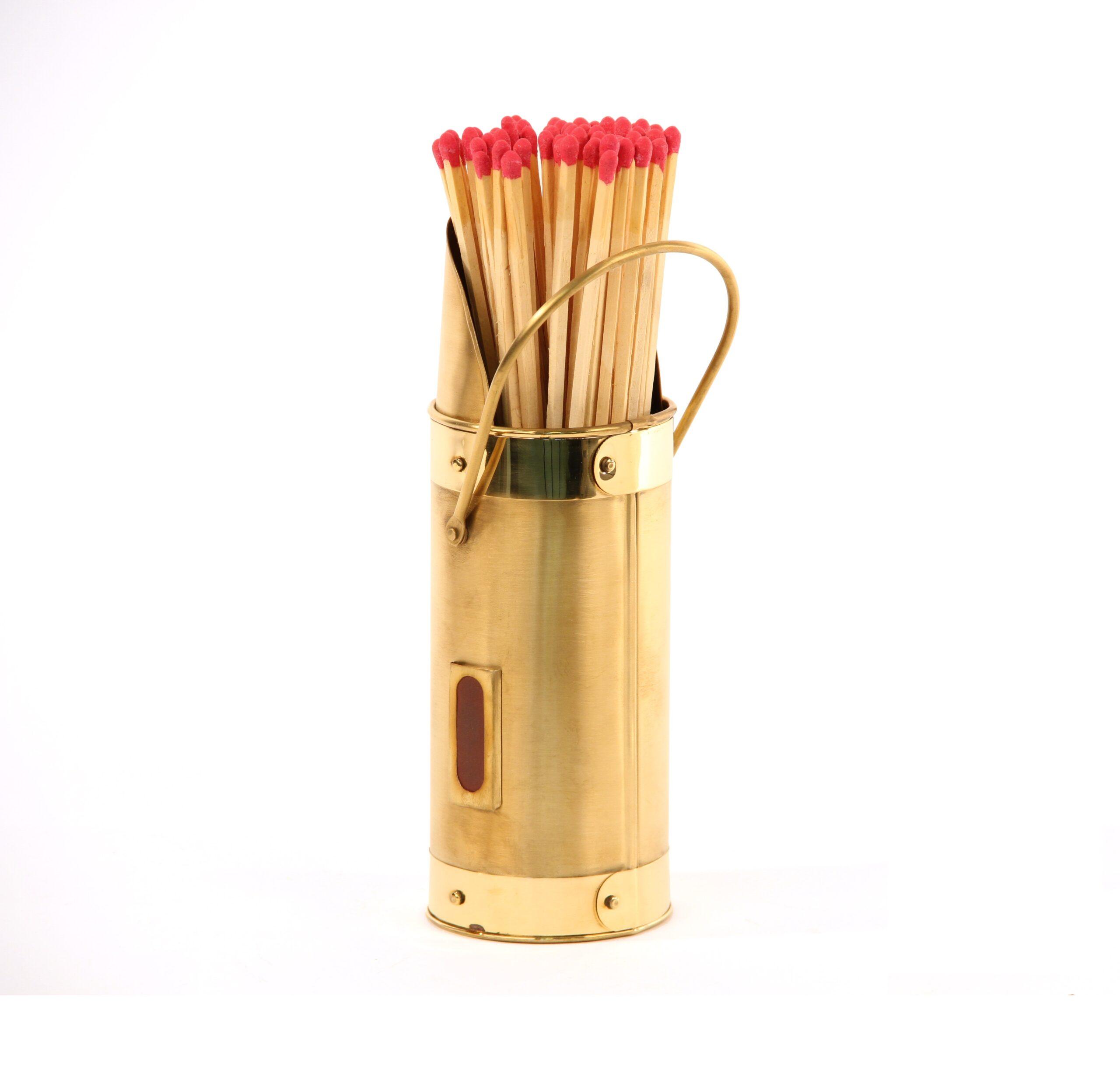 Brass Match Holder & Matches