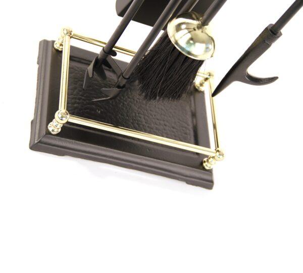"Gallery Fireplace Tool Set - Black & Brass 23"" High"
