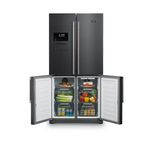 AGA Deluxe SXS Fridge Freezer - Dark Inox - The AGA SxS Deluxe takes food storage to an entirely new level - the innovative new vacuum sealing feature ensures food will last much longer and is perfectly prepared for sous-vide cooking. Added flexibility is provided by the two freezer zones which can be independently set to either, fridge, or, freezer mode, which is brilliant when you are entertaining.