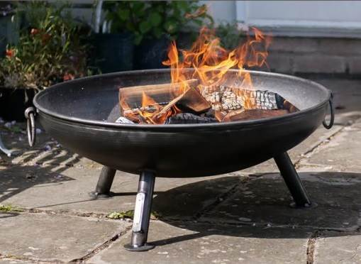 Celeste Firepit 70cm - Simple yet stylish, our 'best selling' low fire pit for those who love to ember gaze but also offers the versatility of accessorising with our Half Moon BBQ Rack or Cooking Tripod Rack with Grill for barbecuing.