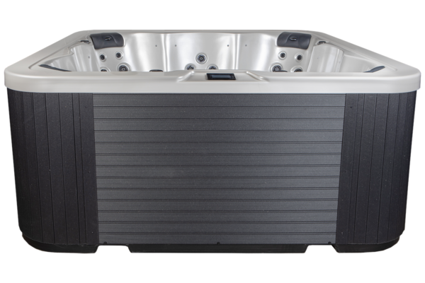 Novitek Halti 7-seater hot tub - The largest hot tub of the Select collection provides a gorgeous setting for as many as seven bathers. In addition to three regular seats, the tub includes four captain's seats that massage the entire body, taking the bather on a journey of imagination beyond the high seas. Thanks to the versatile massage functions of the different sized jets, not even the most demanding user is left cold. The new 2019 model has a clear and modern design.