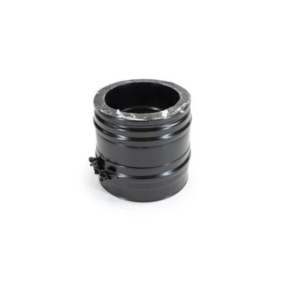 200mm Length - Schiedel ICS Twin Wall Flue - Black Powder Coated
