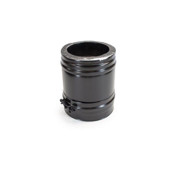 250mm Length - Schiedel ICS Twin Wall Flue - Black Powder Coated