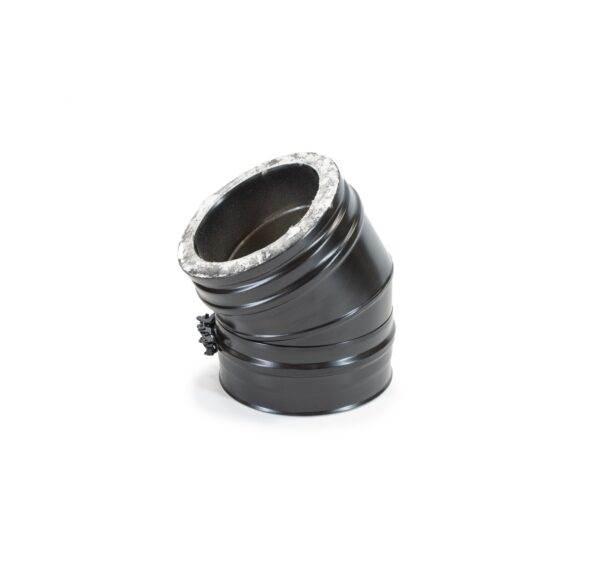 30° Bend - Schiedel ICS Twin Wall Flue - Black Powder Coated