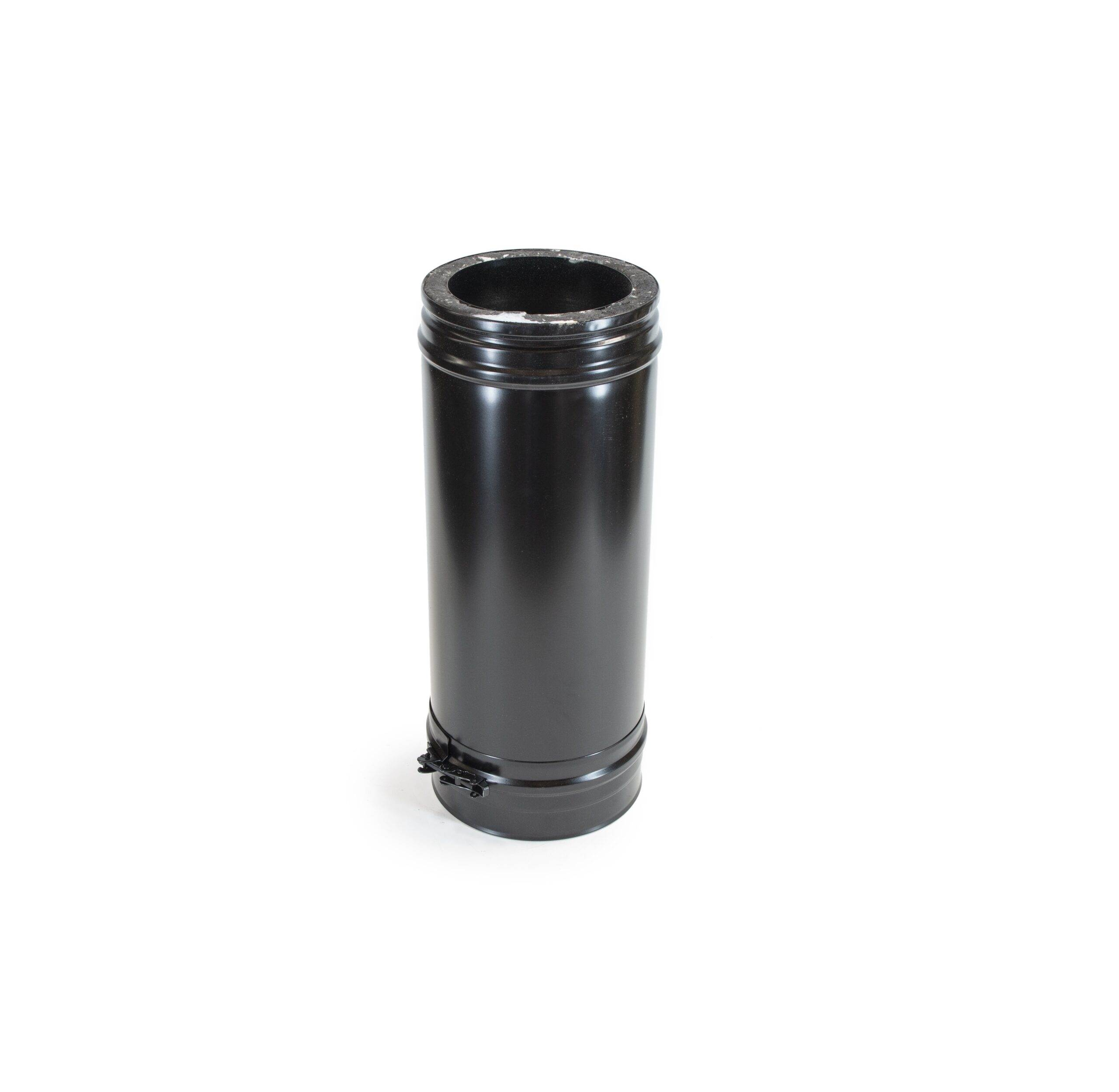 500mm Length - Schiedel ICS Twin Wall Flue - Black Powder Coated