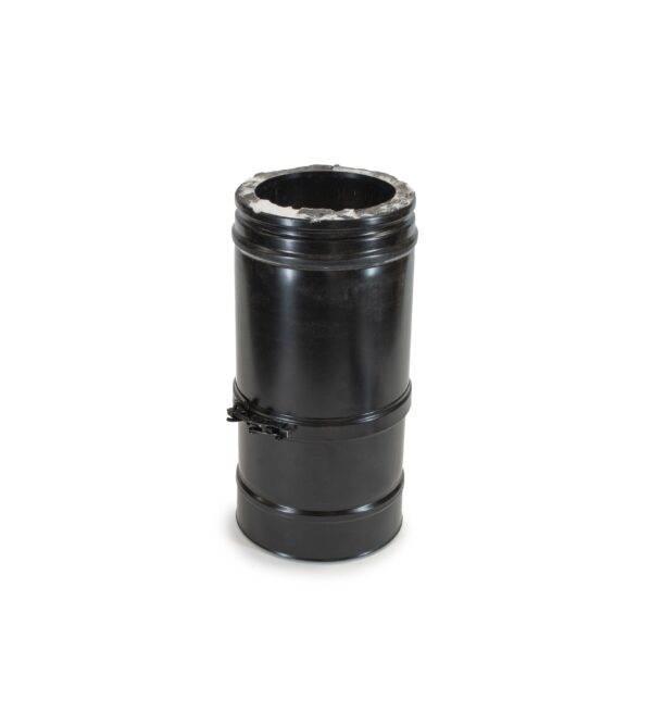 Adjustable Length 270-375mm - Schiedel ICS Twin Wall Flue - Black Powder Coated