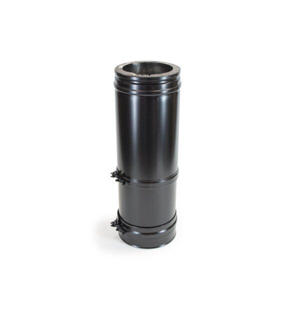 Adjustable Length 375-585mm - Schiedel ICS Twin Wall Flue - Black Powder Coated