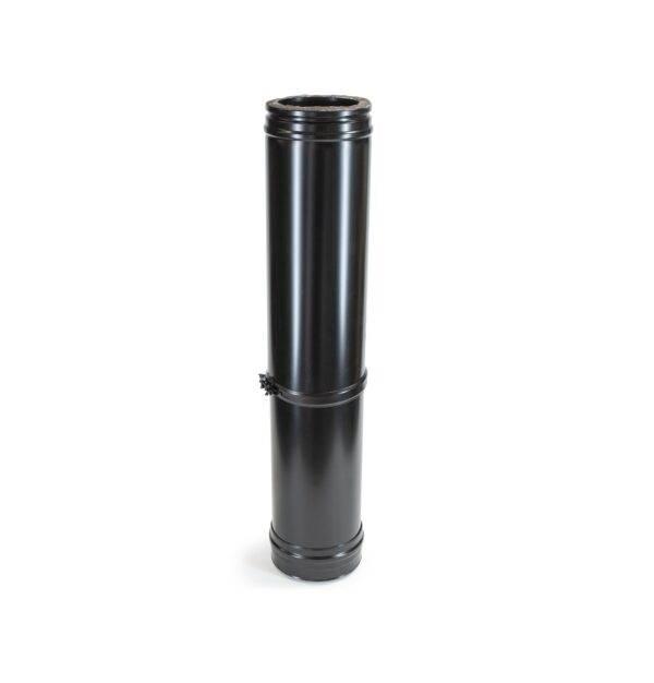Adjustable Length 585-1005mm - Schiedel ICS Twin Wall Flue - Black Powder Coated