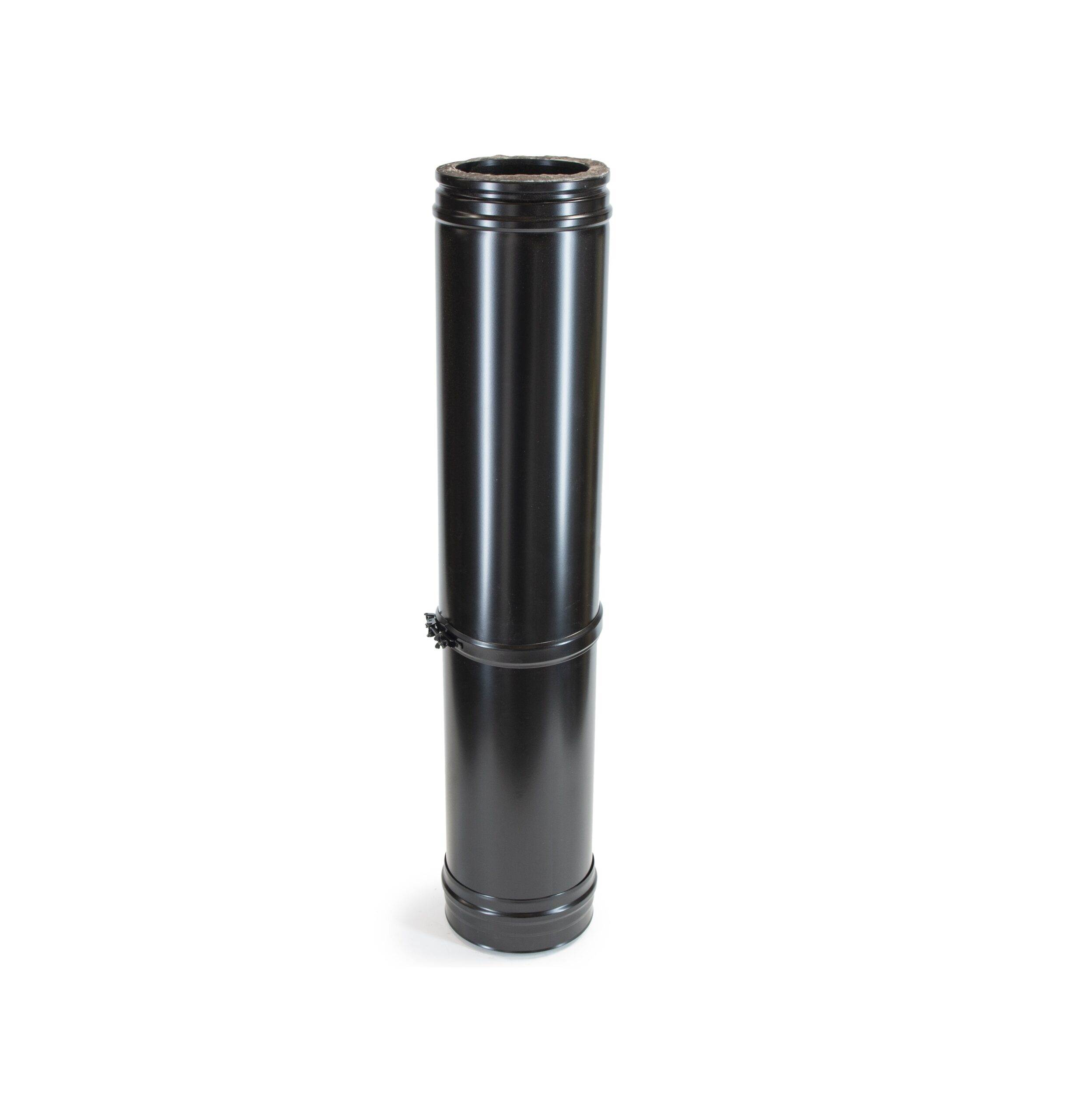 Adjustable Length 585-1005mm - Schiedel ICS Twin Wall Flue - Black Powder Coated