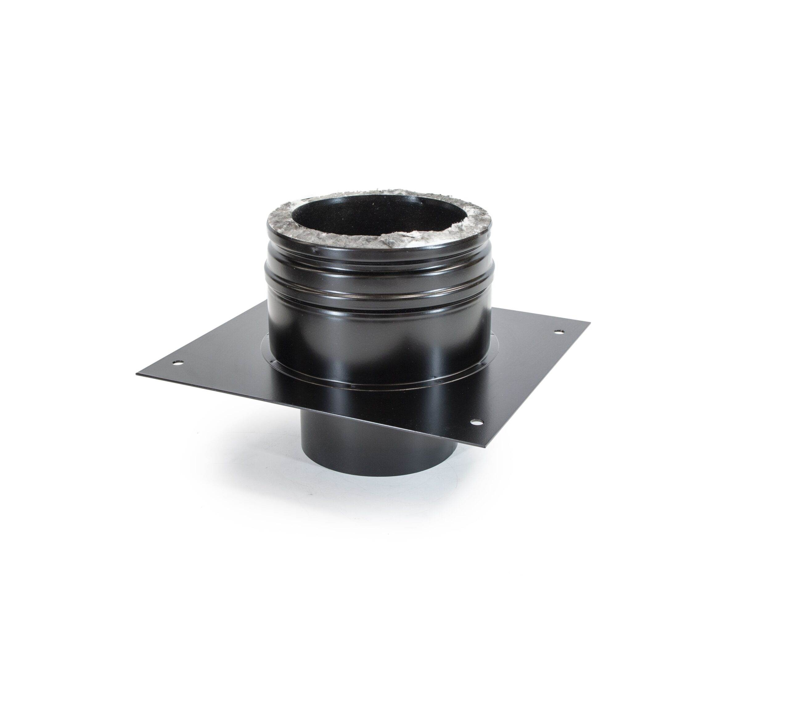 Anchor Plate - Schiedel ICS Twin Wall Flue - Black Powder Coated