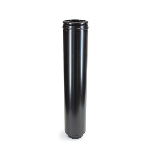 Starter Flue Pipe - Schiedel ICS Twin Wall Flue - Black Powder Coated