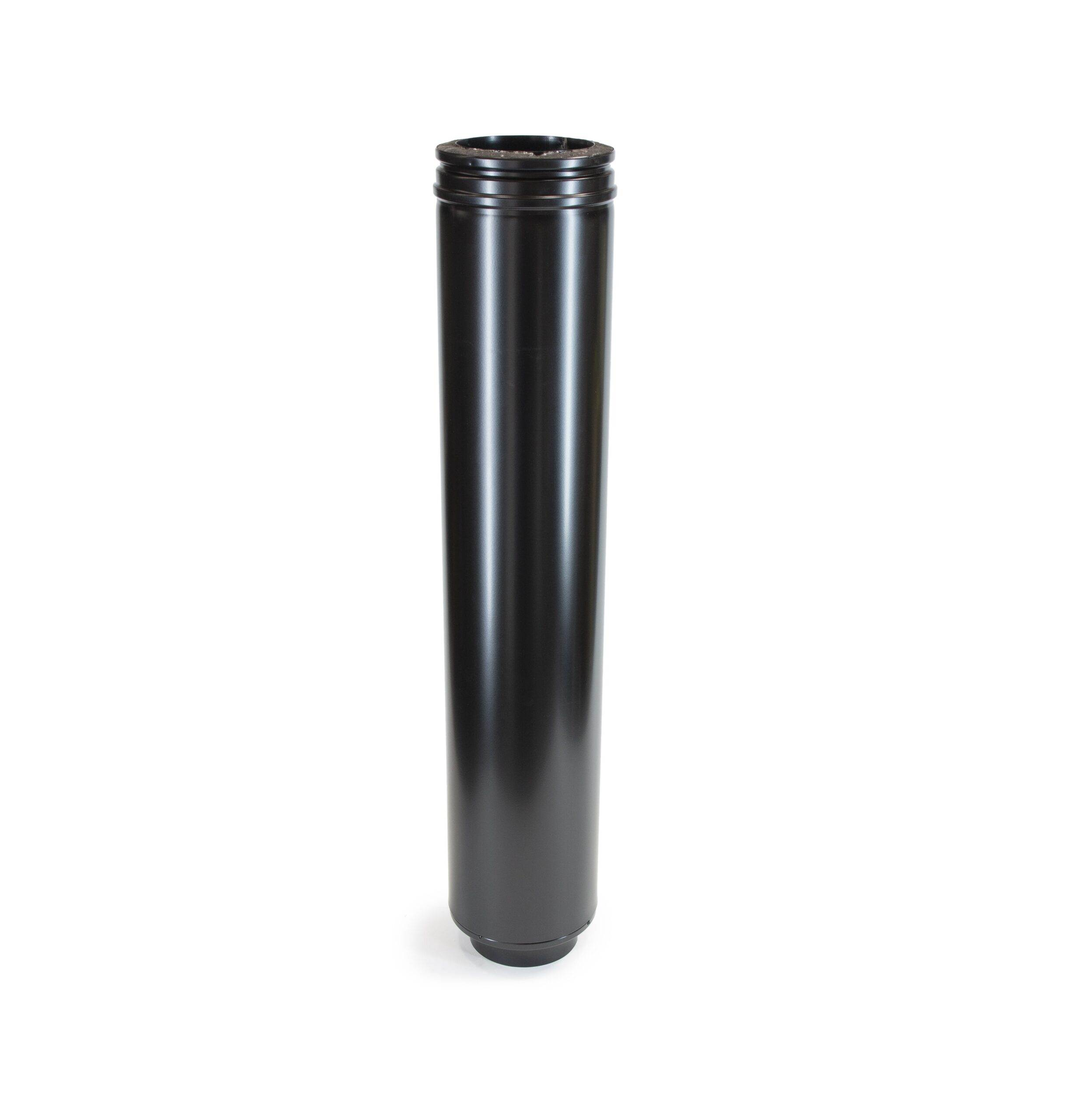 Starter Flue Pipe - Schiedel ICS Twin Wall Flue - Black Powder Coated