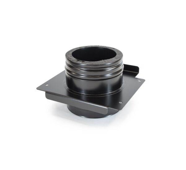 Adjustable Top Plate - Schiedel ICS Twin Wall Flue - Black Powder Coated