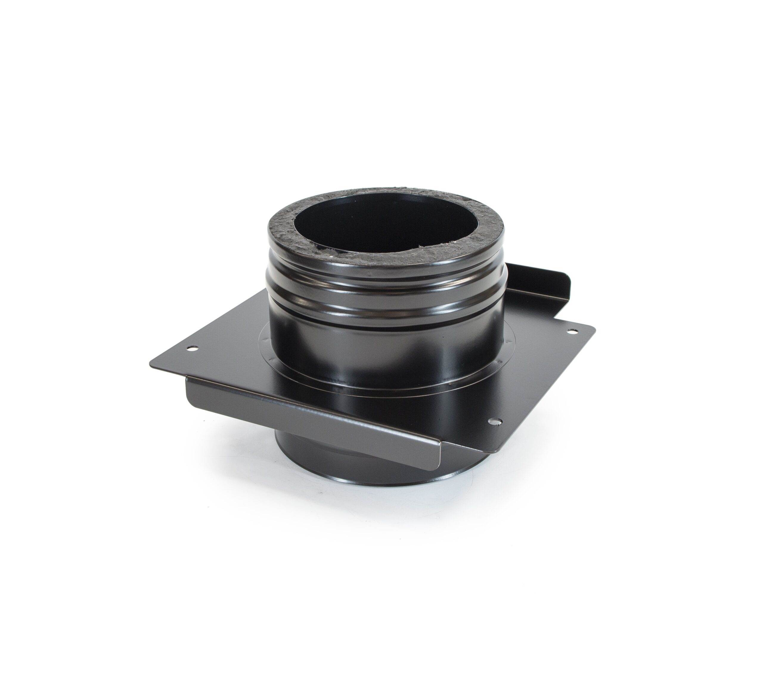 Adjustable Top Plate - Schiedel ICS Twin Wall Flue - Black Powder Coated