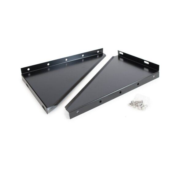 Wall Support Side Plates - Schiedel ICS Twin Wall Flue - Black Powder Coated