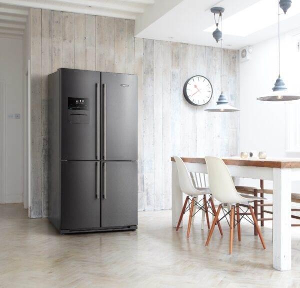 AGA Deluxe SXS Fridge Freezer - Dark Inox