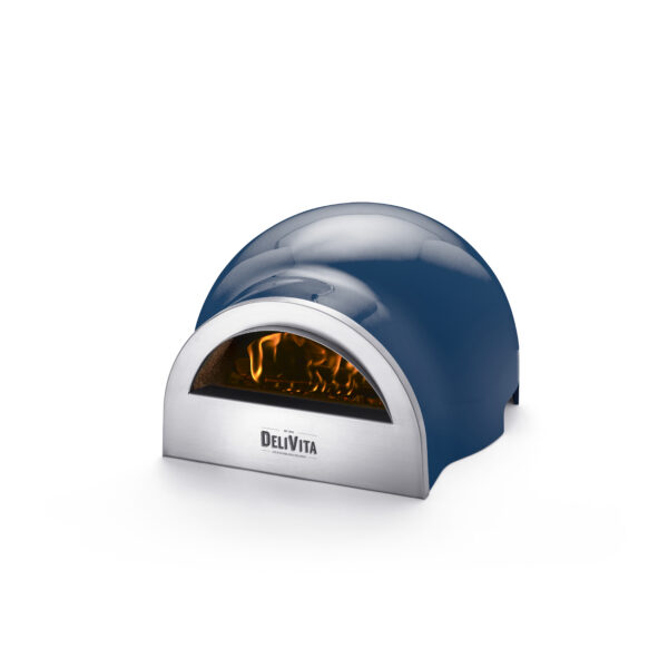 Delivita Wood Fired Pizza Oven - Blue Diamond - These beautifully designed versatile ovens offer superb performance and weighing only 30kg are portable to enjoy anywhere. Crafted by hand and featuring a traditional clay interior, these ovens take time to create to our exacting standards. ...(but perfection is worth waiting for!)