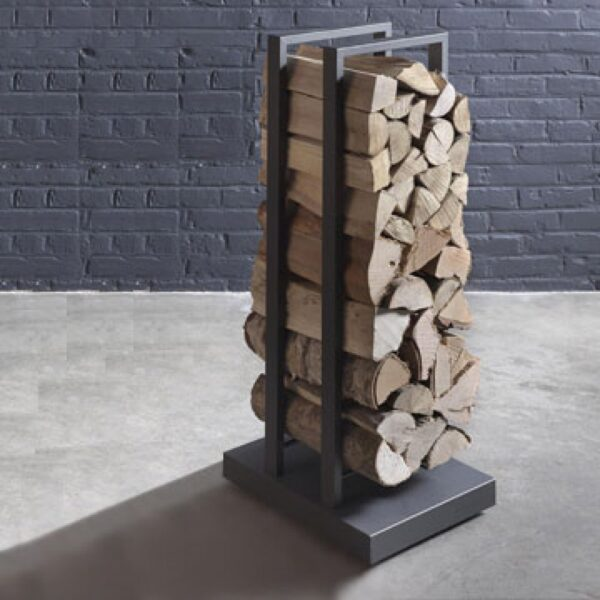 Stuv Mobile Log Holder - 50cm - Practical and mobile, the log trolley is the ideal solution for storing your wood. Because of its castors, you can move it easily to load it with wood and then take it close to the fire.