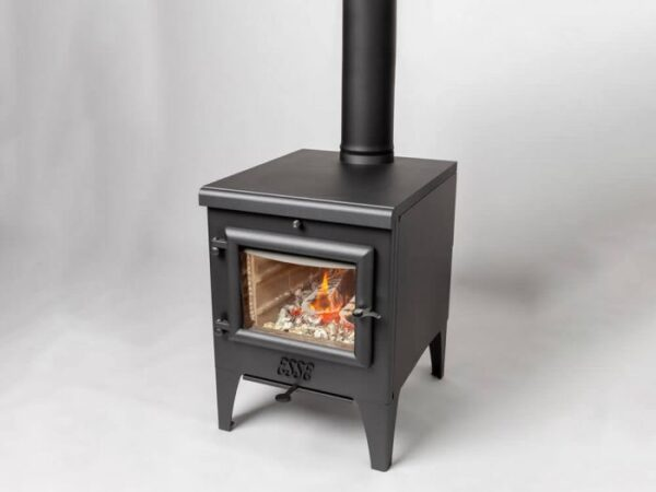 Esse Warmheart S - The Esse Warmheart S cook top stove can be teamed with a domestic boiler to provide hot water when choosing the optional boiler pack. ESSE cook top stoves accommodate logs up to 400mm length and optimise fuel efficiency whether cooking, dining or entertaining.  Like other Esse Warmheart stoves the 'S' model surpasses 2022 Ecodesign requirements, offers a clear, unimpeded view of the flames within and Afterburn™ technology keeps the glass clear while maximising energy efficiency.